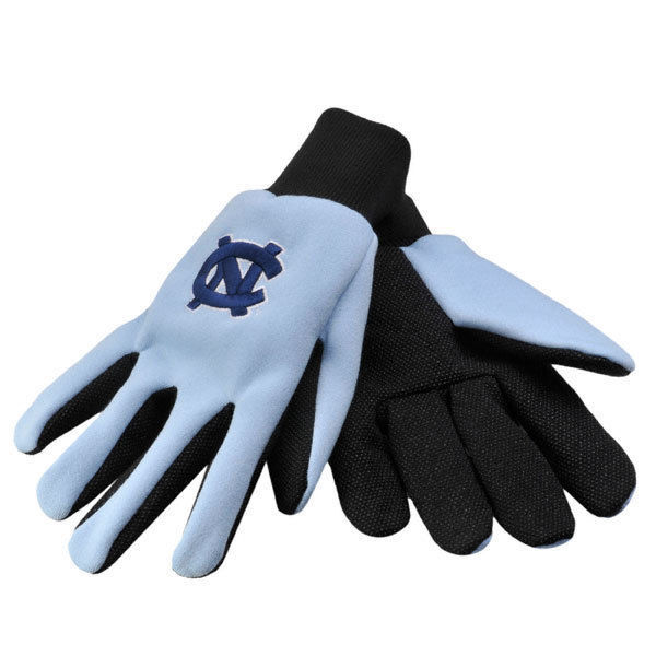 NORTH CAROLINA TAR HEELS GLOVES TEAM TAILGATE GAME DAY PARTY UTILITY WORK GLOVES