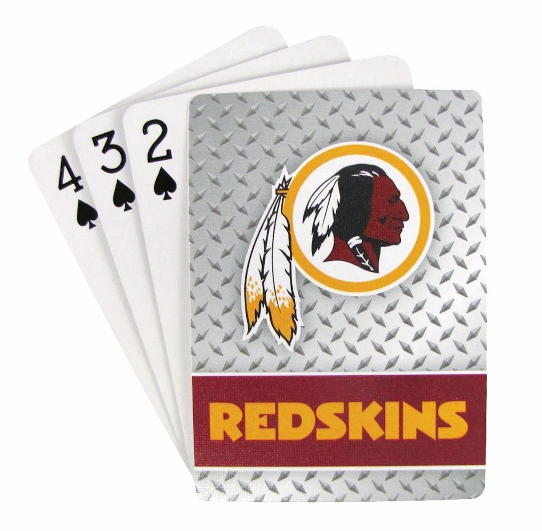 WASHINGTON REDSKINS 52 PLAYING CARDS DECK DIAMOND PLATE POKER  NFL FOOTBALL