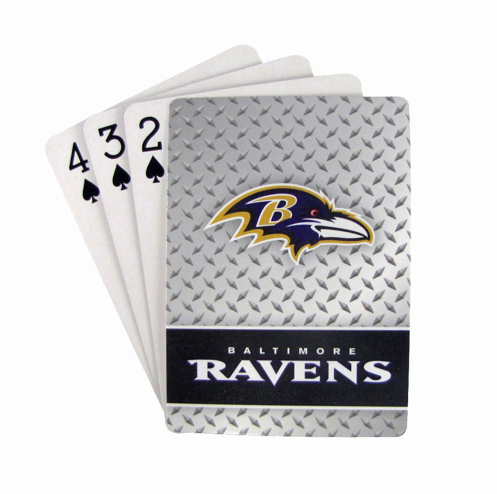 BALTIMORE RAVENS 52 PLAYING CARDS DECK DIAMOND PLATE POKER  NFL FOOTBALL
