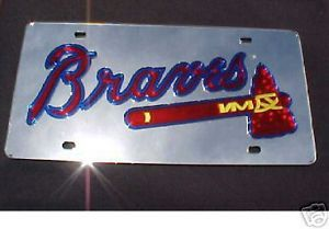MIRROR LASER CAR LICENSE PLATE ATLANTA BRAVES BASEBALL