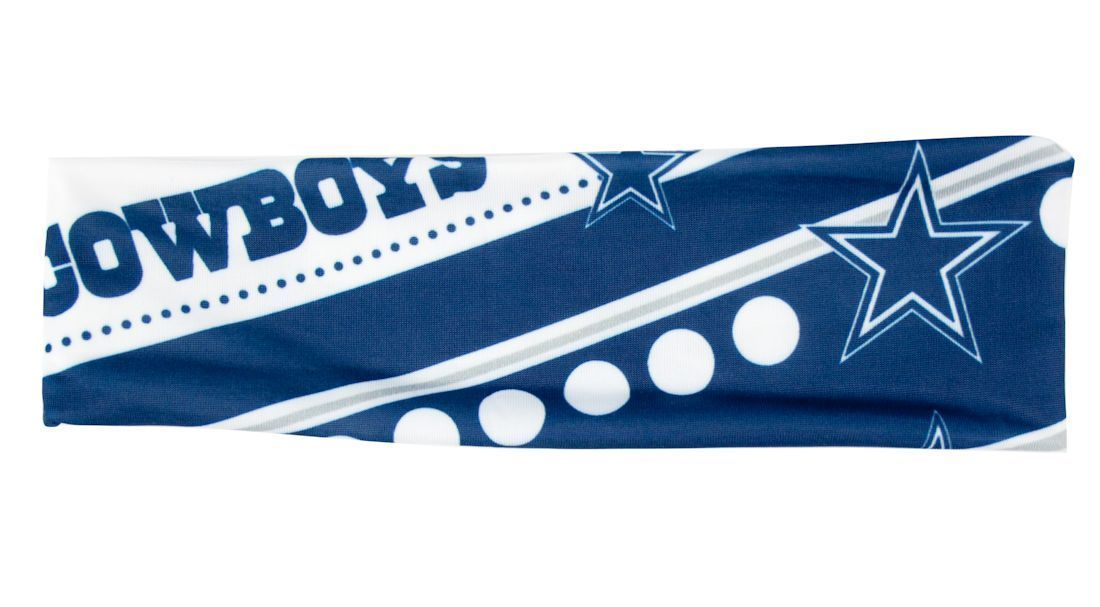DALLAS COWBOYS STRETCH PATTERN TEAM HEADBAND GAME TAILGATE PARTY NFL FOOTBALL