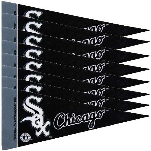 CHICAGO WHITE SOX 8 PIECE FELT MINI PENNANTS SET PACK MLB BASEBALL