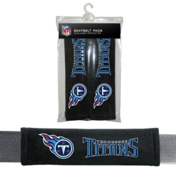 TENNESSEE TITANS 2 VELOUR SEAT BELT LAPTOP GYM BAG SHOULDER PADS NFL FOOTBALL