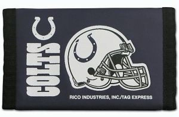 INDIANAPOLIS COLTS TEAM LOGO NYLON TRIFOLD WALLET NFL FOOTBALL