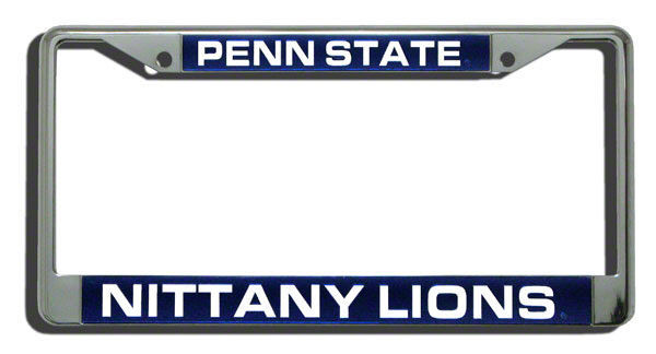 PENN STATE NITTANY LIONS CAR AUTO LASER MIRROR CHROME LICENSE PLATE TAG FRAME
