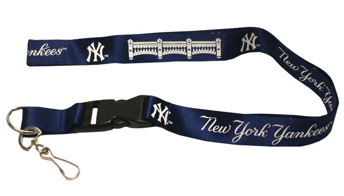 NEW YORK YANKEES TEAM BREAKAWAY LANYARD KEYCHAIN TICKET HOLDER MLB BASEBALL