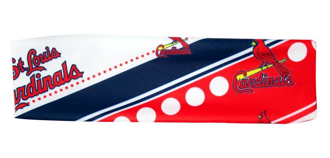 ST LOUIS CARDINALS STRETCH PATTERN TEAM HEADBAND TAILGATE PARTY MLB BASEBALL