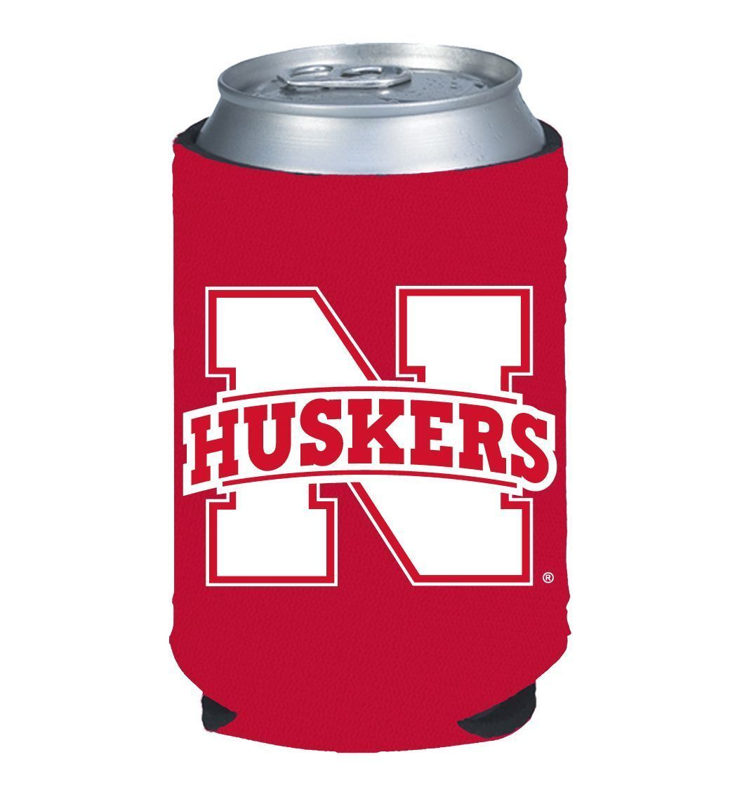 NEBRASKA HUSKERS BEER SODA WATER CAN BOTTLE KOOZIE KADDY HOLDER