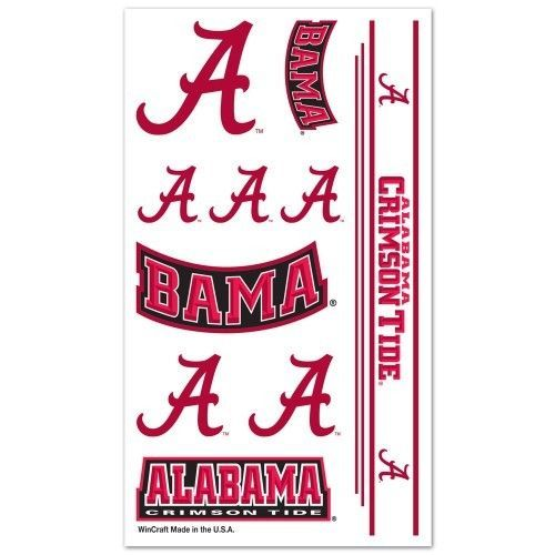 ALABAMA CRIMSON TIDE TEMPORARY TATTOOS FACE BODY GAME DAY TAILGATE PARTY