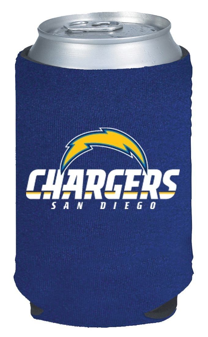2 SAN DIEGO CHARGERS BEER SODA WATER CAN KADDY KOOZIE HOLDER NFL FOOTBALL