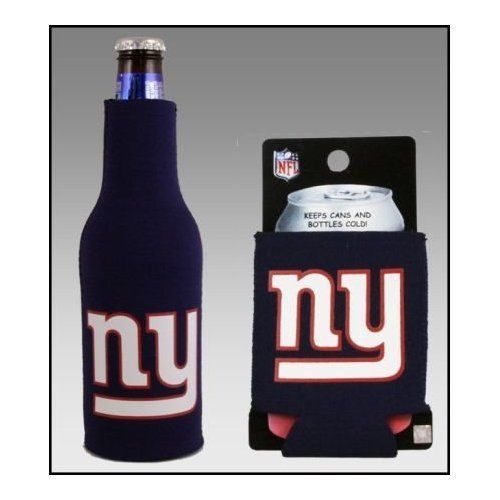 NEW YORK GIANTS BEER SODA WATER BOTTLE & CAN KOOZIE HOLDER NFL FOOTBALL