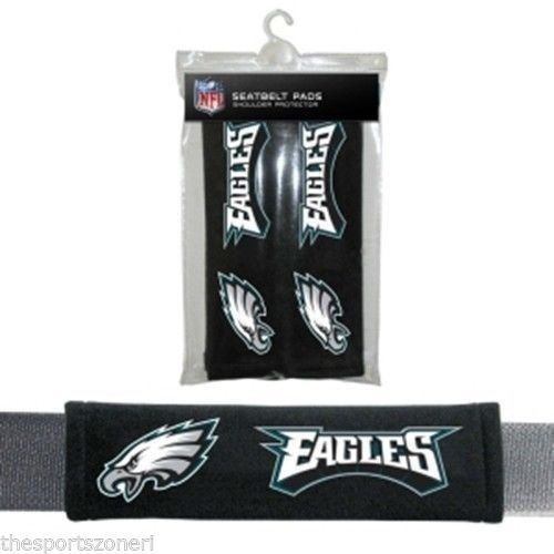 PHILADELPHIA EAGLES 2 VELOUR SEAT BELT LAPTOP GYM BAG SHOULDER PADS NFL FOOTBALL