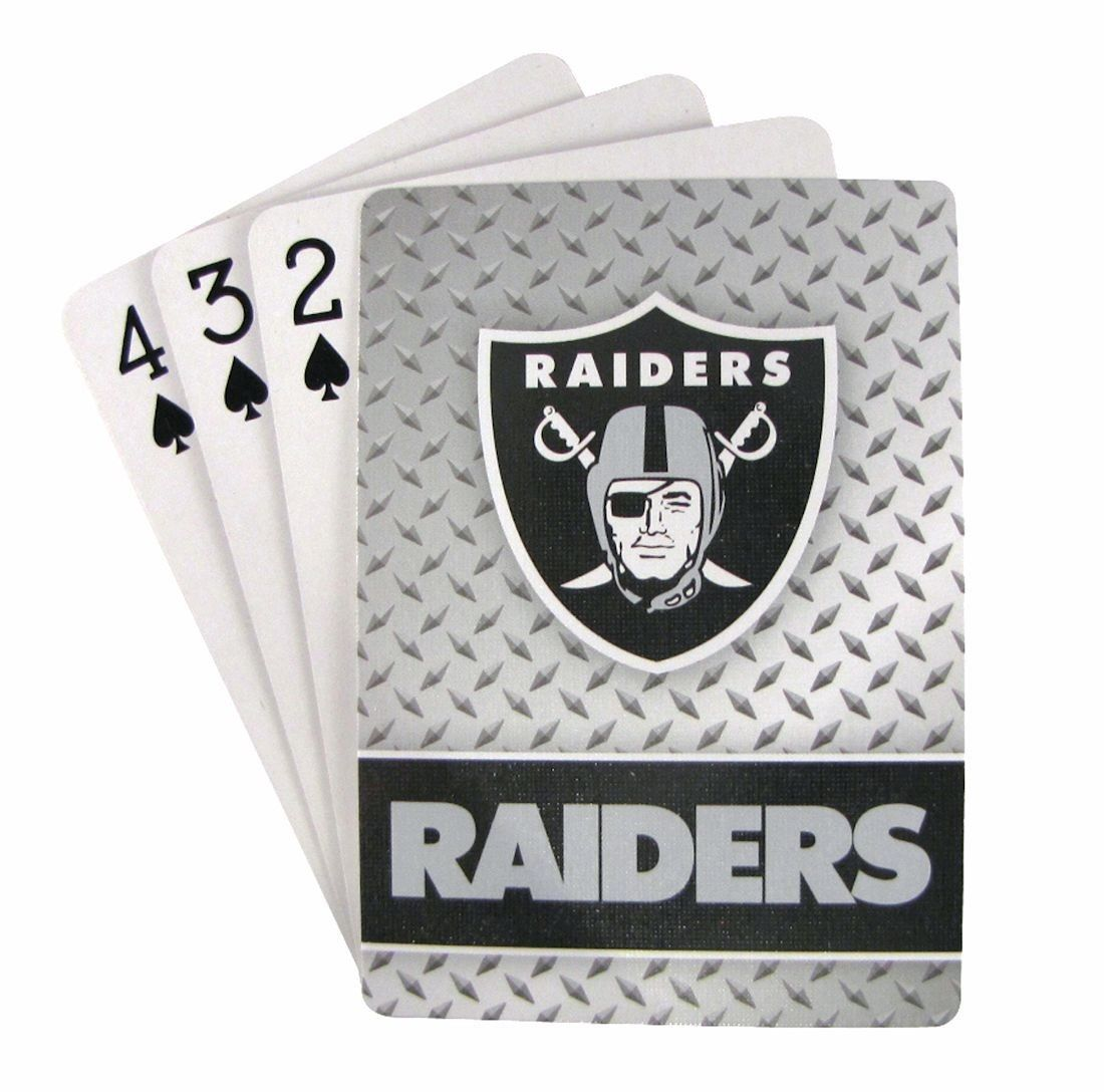 OAKLAND RAIDERS 52 PLAYING CARDS DECK DIAMOND PLATE POKER  NFL FOOTBALL
