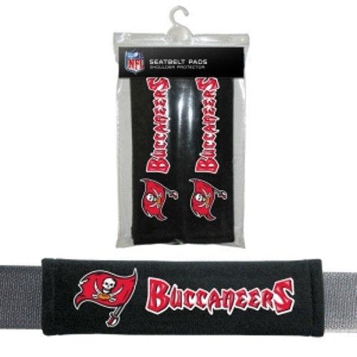 TAMPA BAY BUCCANEERS 2 VELOUR SEAT BELT LAPTOP BAG SHOULDER PADS NFL FOOTBALL