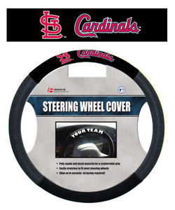 ST LOUIS CARDINALS MESH SUEDE CAR STEERING WHEEL COVER
