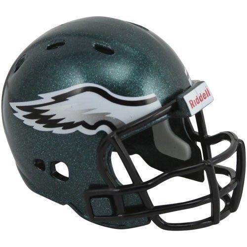 "PHILADELPHIA EAGLES POCKET PRO HELMET 2"" SIZE  Made By RIDDELL! NFL FOOTBALL"