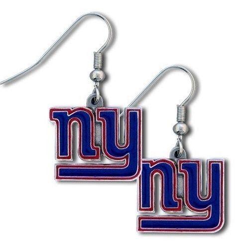 NEW YORK GIANTS PAIR DANGLE EARRINGS TEAM LOGO PARTY TAILGATE NFL FOOTBALL