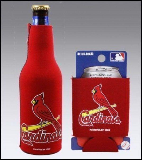 ST. LOUIS CARDINALS BEER SODA  CAN KADDY & BOTTLE KOOZIE HOLDER MLB BASEBALL