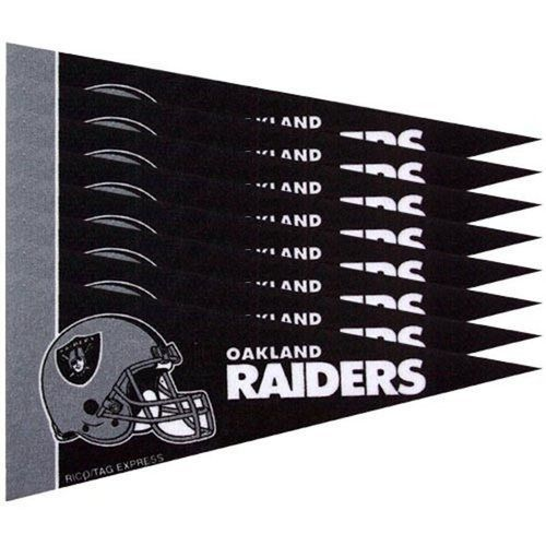 OAKLAND RAIDERS 8 PIECE FELT MINI PENNANTS SET PACK NFL FOOTBALL