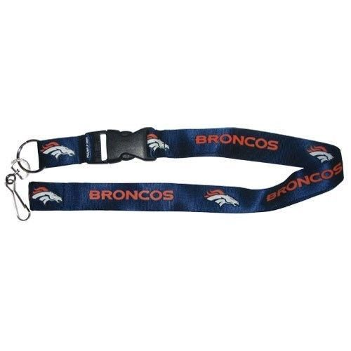 DENVER BRONCOS TEAM BREAKAWAY LANYARD KEY CHAIN TICKET HOLDER NFL FOOTBALL