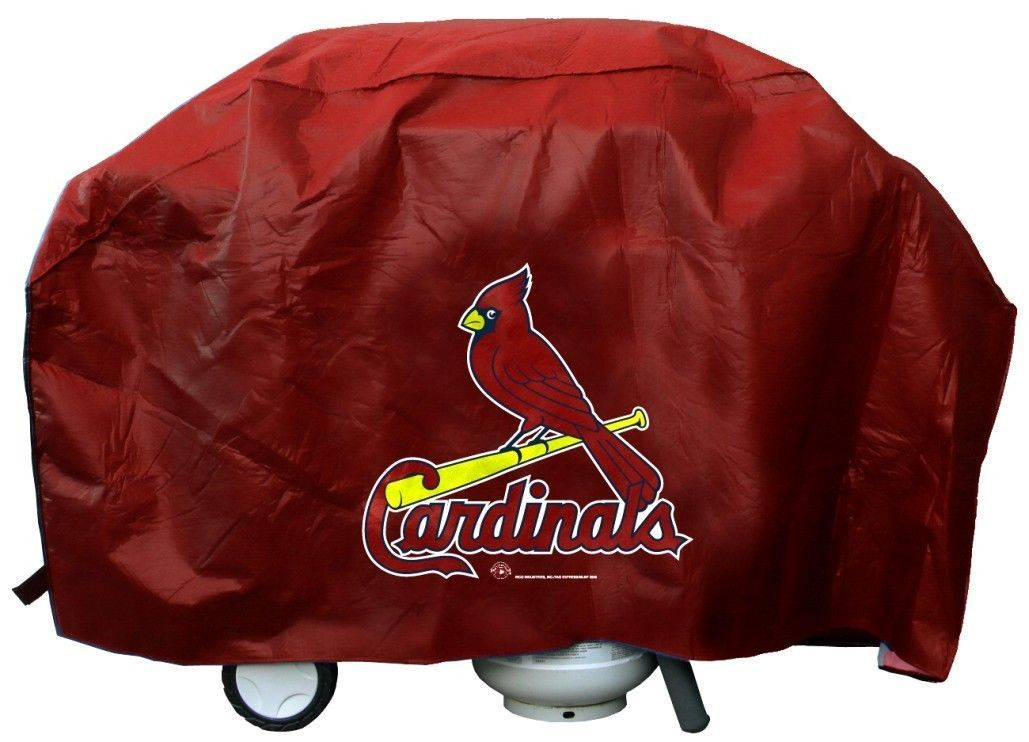 ST. LOUIS CARDINALS ECONOMY BBQ BARBEQUE GRILL COVER COOKING MLB BASEBALL