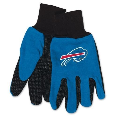 BUFFALO BILLS TAILGATE GAME DAY PARTY UTILITY WORK GLOVES NFL FOOTBALL