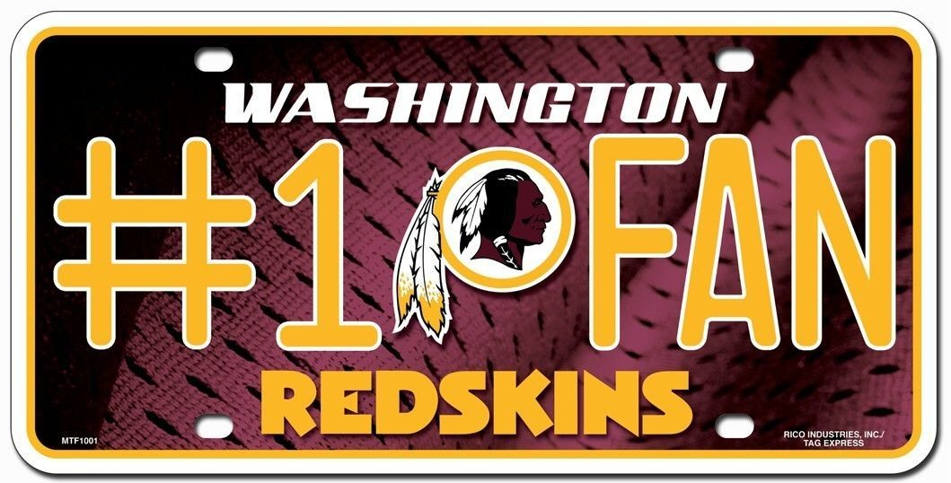 WASHINGTON REDSKINS #1 FAN CAR AUTO METAL LICENSE PLATE TAG NFL FOOTBALL