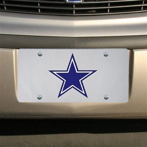DALLAS COWBOYS CAR AUTO LASER-CUT MIRROR LICENSE PLATE TAG NFL FOOTBALL