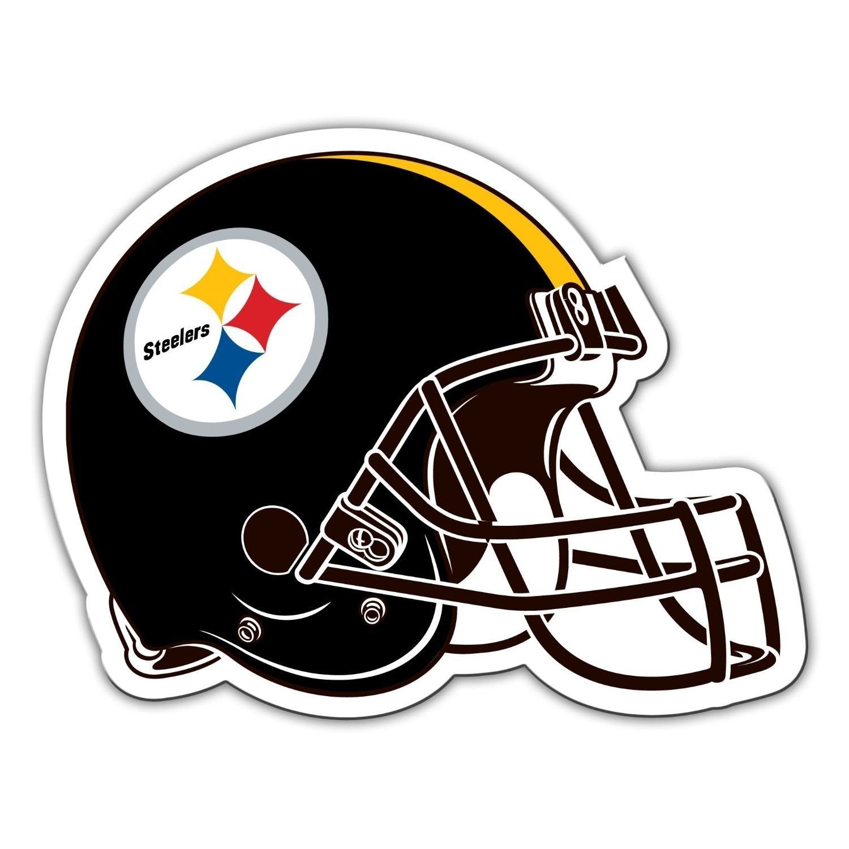 "PITTSBURGH STEELERS BIG 12"" CAR FRIDGE FOOTBALL HELMET MAGNET NFL FOOTBALL"