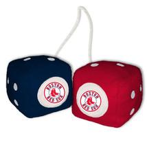 BOSTON RED SOX PLUSH FUZZY DICE CAR MIRROR DANGLER MLB BASEBALL - $5.87