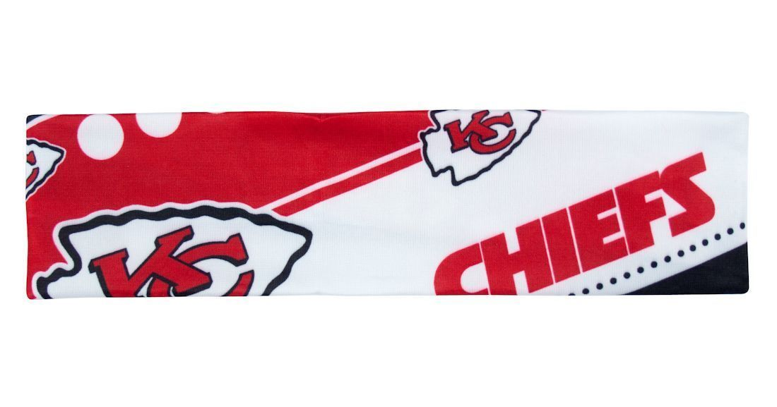 KANSAS CITY CHIEFS STRETCH PATTERN HEADBAND GAME DAY TAILGATE PARTY NFL FOOTBALL