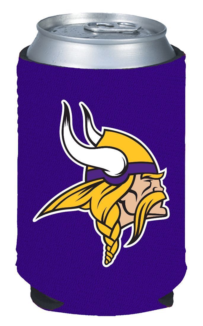 2 MINNESOTA VIKINGS BEER SODA WATER CAN KADDY KOOZIE HOLDER NFL FOOTBALL