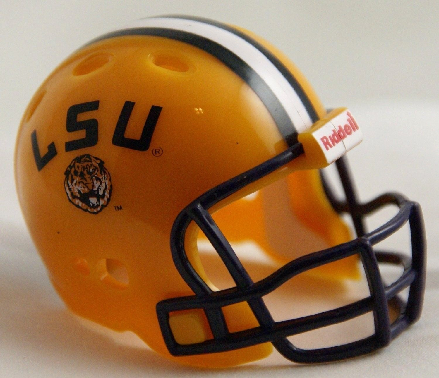 "LSU TIGERS POCKET PRO FOOTBALL HELMET 2"" SIZE  Made By RIDDELL!"