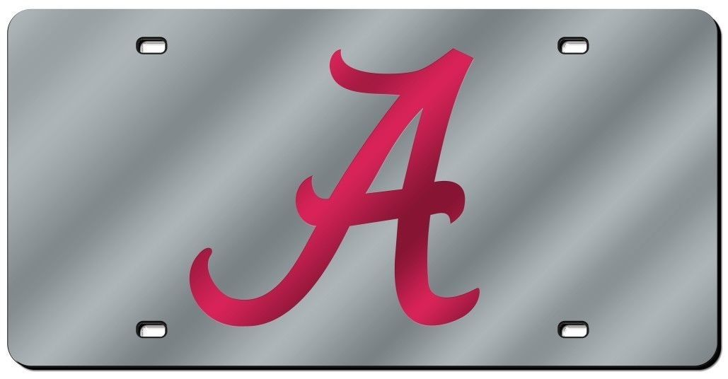 ALABAMA CRIMSON TIDE CAR AUTO LASER-CUT MIRROR LICENSE PLATE TAG NCAA