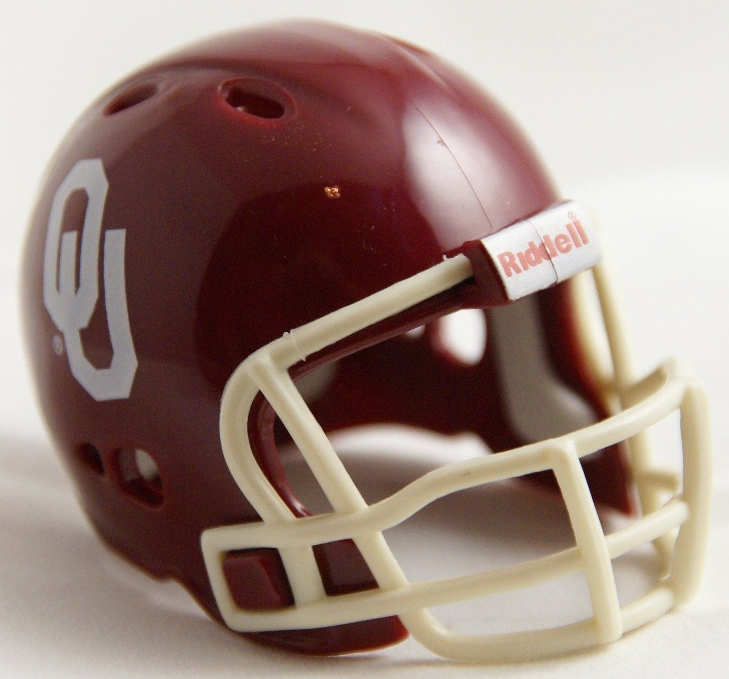 "OKLAHOMA SOONERS POCKET PRO FOOTBALL HELMET 2"" SIZE  Made By RIDDELL!"