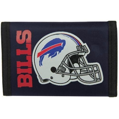 BUFFALO BILLS NYLON TRIFOLD WALLET NFL FOOTBALL