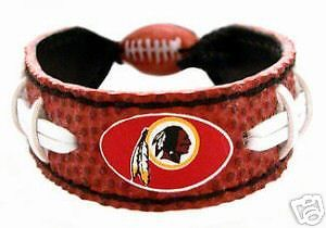 CLASSIC FOOTBALL LEATHER BRACELET WASHINGTON REDSKINS