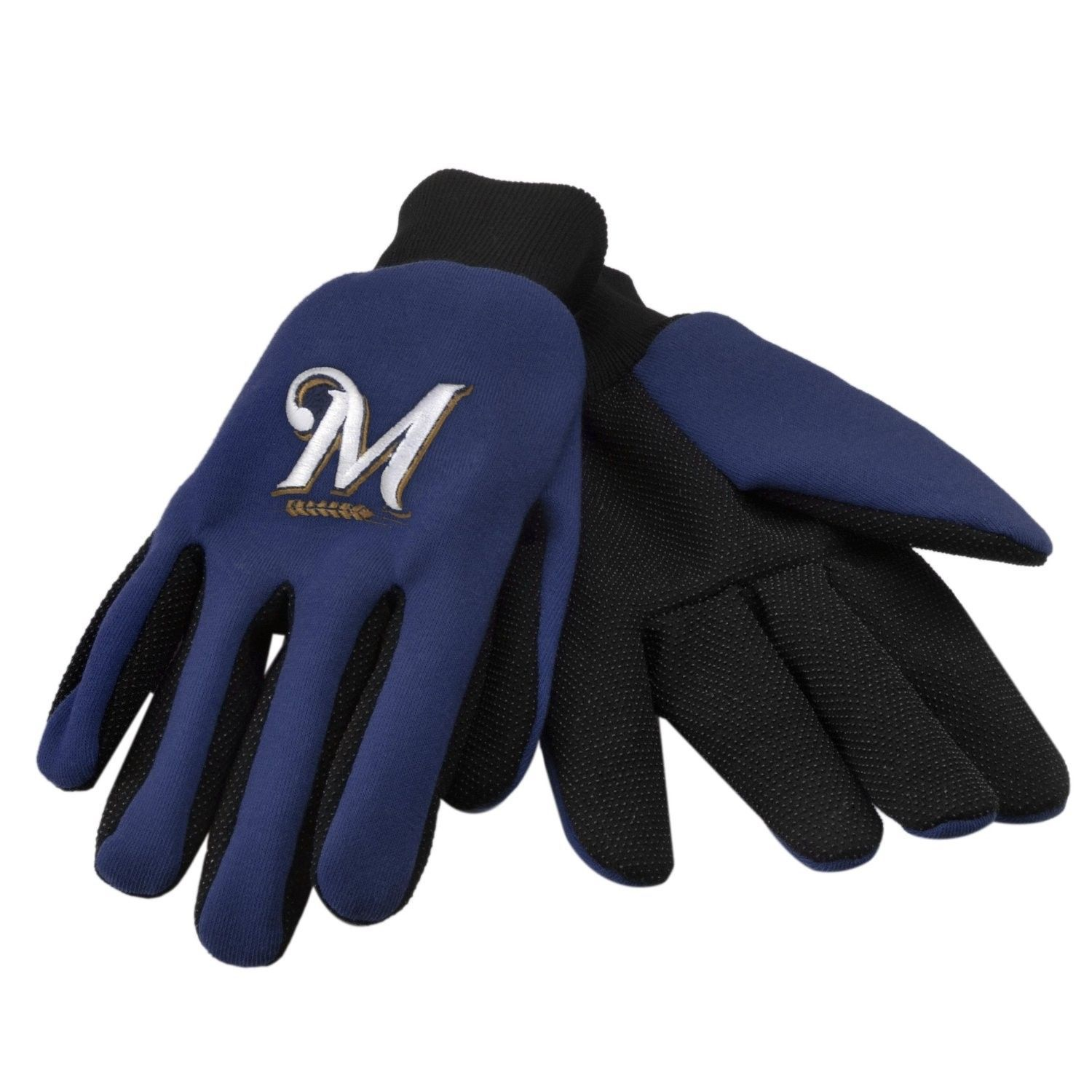 MILWAUKEE BREWERS TEAM TAILGATE GAME DAY PARTY UTILITY WORK GLOVES MLB BASEBALL
