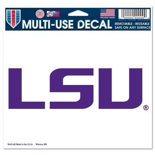 "LSU TIGERS ULTRA DECAL TEAM LOGO 5""X 6"" CLEAR WINDOW FILM NCAA"