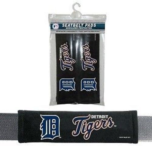 DETROIT TIGERS 2 VELOUR SEAT BELT LAPTOP GYM BAG SHOULDER PADS MLB BASEBALL