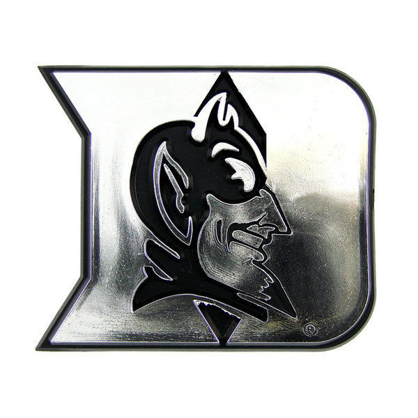 DUKE BLUE DEVILS CAR AUTO 3-D CHROME SILVER TEAM LOGO EMBLEM