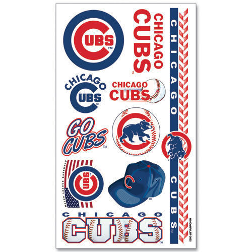 CHICAGO CUBS TEMPORARY TATTOOS GAME TAILGATE PARTY FACE BODY MLB BASEBALL
