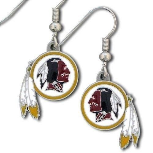 WASHINGTON REDSKINS PAIR DANGLE EARRINGS TEAM LOGO PARTY TAILGATE NFL FOOTBALL