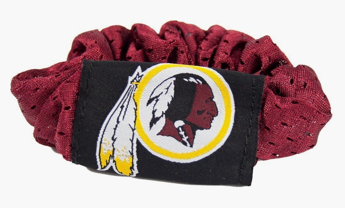 WASHINGTON REDSKINS SCRUNCHIE HAIR TWIST PONYTAIL HOLDER TEAM LOGO NFL FOOTBALL