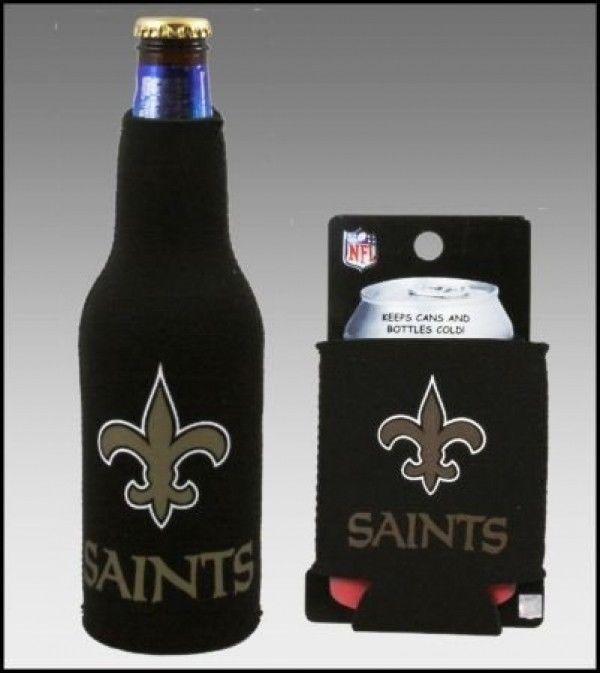 NEW ORLEANS SAINTS BEER SODA CAN KADDY & BOTTLE KOOZIE HOLDER NFL FOOTBALL