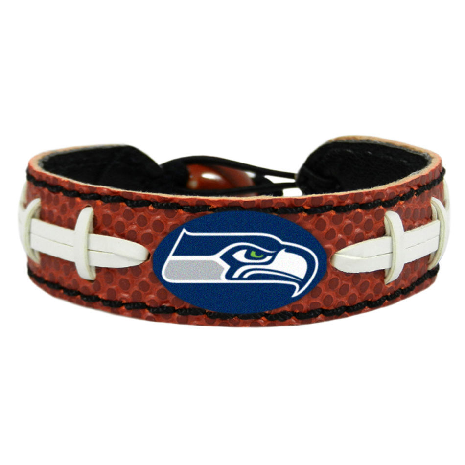 SEATTLE SEAHAWKS CLASSIC LEATHER LACES BRACELET NFL FOOTBALL