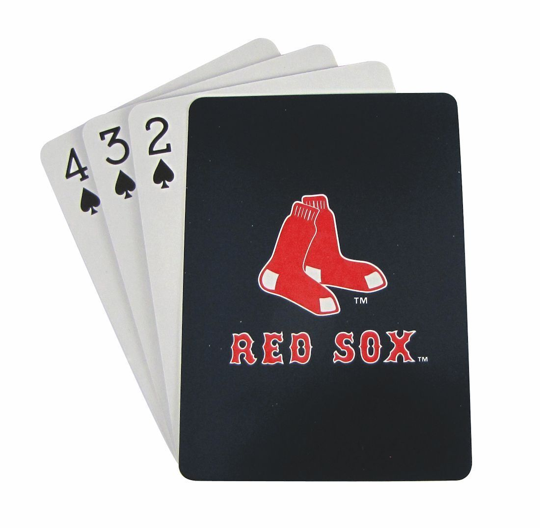 BOSTON RED SOX TEAM LOGO POKER PLAYING CARDS DECK MLB BASEBALL