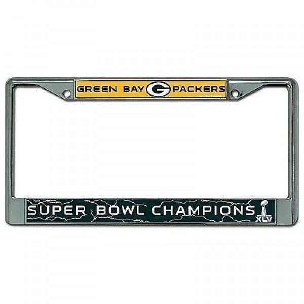 SUPER BOWL XLV 45 CHAMPION GREEN BAY PACKERS CAR CHROME LICENSE FRAME LAST ONE!