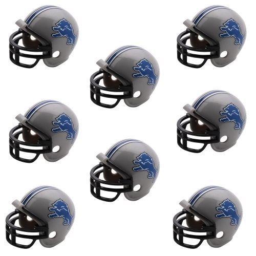 DETROIT LIONS 8 PARTY PACK NFL FOOTBALL HELMETS RIDDELL