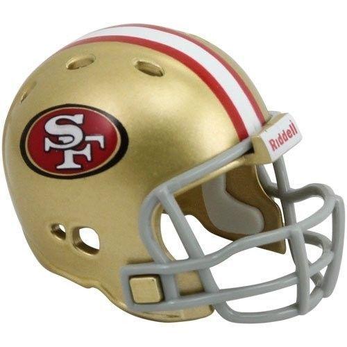 "2 SAN FRANCISCO 49ERS POCKET PRO NFL FOOTBALL HELMET 2"" SIZE  Made By RIDDELL!"